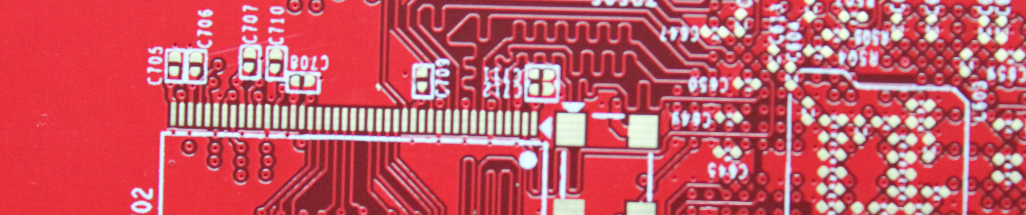 HDI circuit board with red solder mask